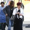 Sharon Osbourne and husband Ozzy Osbourne seen out shopping in Beverly Hills, California on September 27, 2014