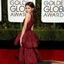 Zendaya attends the 73rd Annual Golden Globe Awards held at the Beverly Hilton Hotel on January 10, 2016 in Beverly Hills, California
