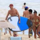 Tina Kunakey – Seen at the Beach with Friends