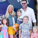 Tori Spelling and her family attending at various events through the years - 454 x 733