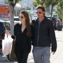Angelina Jolie and Brad Pitt do some shopping together on Wednesday (May 25) in Los Angeles.