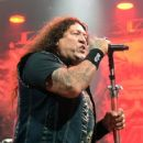 Singer Chuck Billy of Testament performs at The Joint inside the Hard Rock Hotel & Casino on March 26, 2016 in Las Vegas, Nevada - 422 x 600