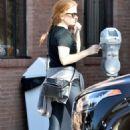 Isla Fisher in Leggings – Out in Studio City - 454 x 681