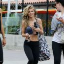 AnnaLynne McCord in Tights and Sports Bra out in Malibu - 454 x 643