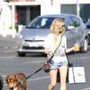 Amanda Seyfried – Walking her dog in West Hollywood