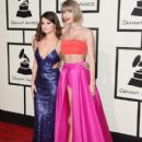Selena Gomez and Taylor Swift At The 58th Annual Grammy Awards (2016) - Arrivals - 408 x 600