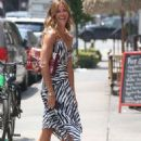 Kelly Bensimon in Summer Dress – Out in New York - 454 x 649