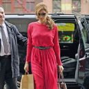 Eva Mendes: arriving outside the Bowery Hotel after a day of shopping in New York