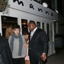Ariana Grande and Nathan Sykes show off their blossoming romance during dinner with friends at Manna restaurant in Primrose Hill, London, UK on November 7, 2013