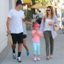 Jessica Alba and Her Family Enjoy a Day Out in Beverly Hills