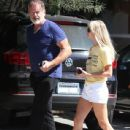 Kelsey Grammer and his wife stop by the Andy LeCompte Salon in West Hollywood, California on September 29, 2015 - 438 x 600
