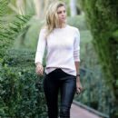 Kelly Rohrbach in Leather Pants – Heads to the Beverly Hills Hotel in Beverly Hills - 454 x 681