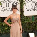 Sarah Hyland arrives at the 68 annual Golden Globes Awards, January 16, 2011