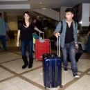 Joe Jonas And Ashley Greene Arriving On A Flight At LAX December 29, 2010