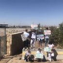 Bella Thorne on a rally in support of refugee children and families seeking asylum in Tornillo
