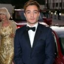 Actor Ed Westwick attends the 2015 Jaguar Land Rover British Academy Britannia Awards at The Beverly Hilton Hotel on October 30, 2015 in Beverly Hills, California - 411 x 600