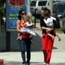 Courteney Cox With Her Daughter In Hollywood, August 17 2006