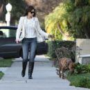 Jessica Biel - In jeans walking her dog in Studio City on Feb. 8 2011
