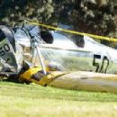 A general view at the Penmar Golf Course after a single-engine plane piloted by actor Harrison Ford crashed on March 5, 2015 in Venice, California. Ford was reportedly taken to a nearby hospital in fair to moderate condition