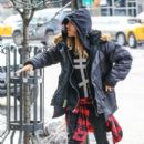 Jared Leto seen arriving to his New York City, New York hotel on February 12, 2014
