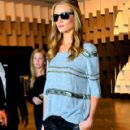 Rosie Huntington Whiteley Leaving the 'Animale' Fashion Show