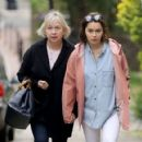 Emilia Clarke with her mother out in London - 454 x 422