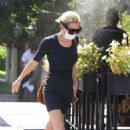 Nicky Whelan – Out for a dog walk in Studio City