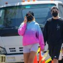 Sofia Richie in Tiny Shorts – Strolling with friends in Malibu