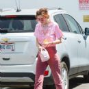 Bella Thorne in Red Pants – Out in Los Angeles - 454 x 605