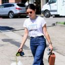 Lucy Hale – Exits Joan's On Third after Lunch in Studio City