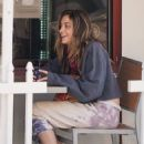 Paris Jackson – spotted having breakfast in Beverly Hills