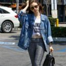 Lily Collins shopping at Ralph's in West Hollywood