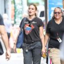 Drea de Matteo – In a Rolling Stones t-shirt out in NYC - 454 x 679