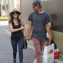 Lucy Hale and boyfriend Chris Zylka were spotted shopping at the Grove yesterday, July 29, in Los Angeles