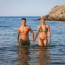 Gemma Atkinson in Bikini at the beach in Crete - 454 x 300