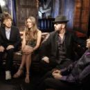 Robin Roberts talks with Mick Jagger, Joss Stone, AR Rahman and Dave Stewart about their first collaboration for new cd SuperHeavy - 19 September 2011 - 454 x 302