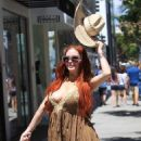 Phoebe Price – Wears a Cowboy Hat in Beverly Hills - 454 x 621