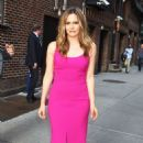 Alicia Silverstone – Seen At Late Show with Stephen Colbert in New York - 454 x 769