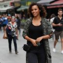 Rochelle Humes – Leaves Global Radio in London - 454 x 681