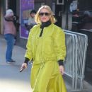 Kristen Bell – Wears bold neon green outfit while out in New York