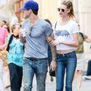 Adam Levine and Behati Prinsloo apartment hunting in NYC (July 29)
