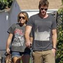 Miley Cyrus And Liam Hemsworth At The LTH Studio