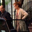 "Uma Thurman On The Set Of ""Motherhood"" In Manhattan, May 13 2008"