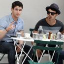 Nick and Joe Jonas were spotted out to lunch today, May 7, in New York City
