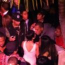 Chris Brown and Rihanna- Qubeey Launch Party  October 20, 2012