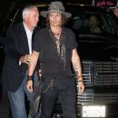 Johnny Depp at the Aerosmith concert afterparty at Pink Taco in LA (August 6)