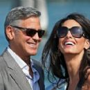George Clooney and Amal Alamuddin in Venice (September 26, 2014)