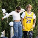 Hailey Bieber and Justin Bieber – visit some friends in Beverly Hills
