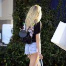 Jessica Hart in Denim Shorts out in LA - 454 x 548