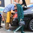 Ellen Pompeo in Green Tracksuit – Shopping at Toms Toys in Beverly Hills - 454 x 681